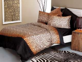 SILKY SMOOTH   LEOPARD PRINT   3 PCE KING SIZE QUILT/DOONA COVER SET
