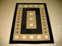 2x3 Contemporary Modern Geometric Black Decor Area Rug