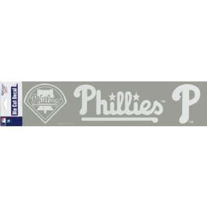 PHILADELPHIA PHILLIES 4x17 CLEAR DIE CUT DECAL Sports