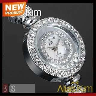 Alias Kim Silver Crystal Stone Inlaid New Ladies Girls Womens Quartz