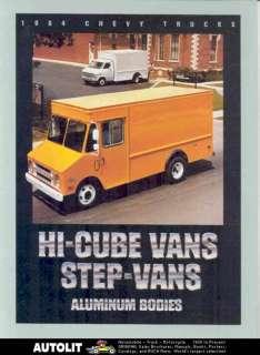 1984 Chevrolet Step Van Hi Cube Aluminum Truck Brochure