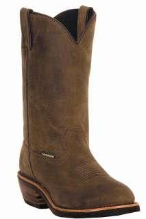 NEW DAN POST MENS ALBUQUERQUE COWBOY WATERPROOF TAN BOOTS 12 D DP69681