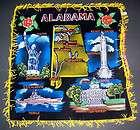 Vintage Alabama Black Velvet Fringed Pillow Cover NWO