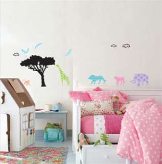 Africa Animal WALL Mural STICKER Removable Art Decals