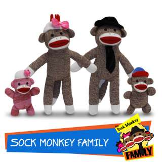 The Sock Monkey Family Toy Game Plush Stuffed Animal