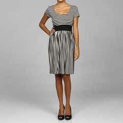 Tiana B. Womens Stripe Jersey Knit Dress