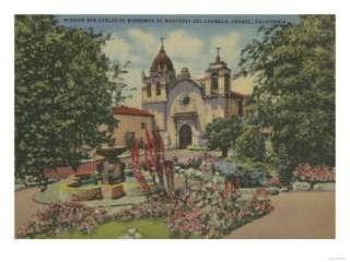 Carmel, CA   Mission San Carlos De Borromeo Del Carmelo Premium Poster