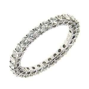 1.45 ct Platinum Diamonds Eternity Wedding Band Jewelry