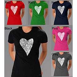 Los Angeles Pop Art Womens Heart Love T shirt