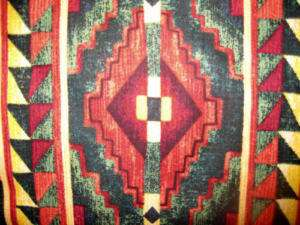 Curtain VALANCE SOUTHWEST Tribal red/green lodge rustic