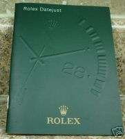 Vintage Genuine Rolex Datejust Booklet Manual 2004 Eng.