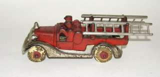 Iron Nickeled Grill Fire Ladder Truck Wagon  (DP)