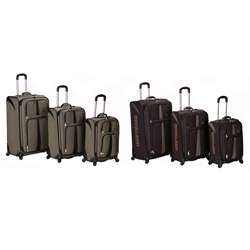 Rockland Polo Equipment Expandable 3 pc Luggage Set