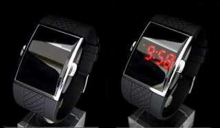 Black Luxury Fashion Sport LED Date Day Digital Dia Men Women Unisex