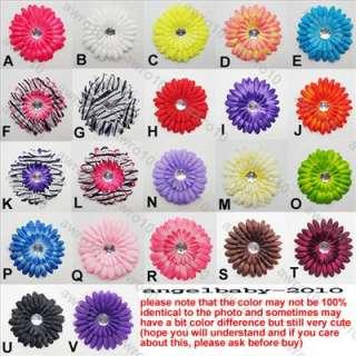 10 Pieces Adorable baby daisy flower & hair bow clips/A