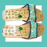 Black Yoga Master Sandals Acupressure Flip Flops Acupuncture Mens