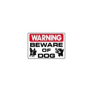 BEWARE OF DOG, 10x14 Heavy Duty Sign