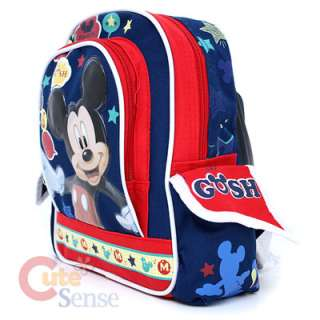 Disney Mickey Mouse School Backpack/Bag  Say Cheese  10 Small