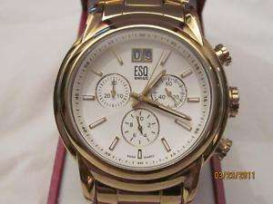 ESQ by Movado SWISS chrono gold band 07301228