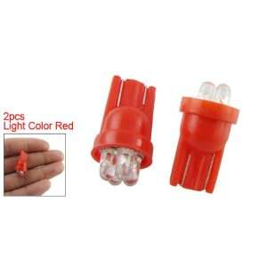 Red Car Vehicle 4 LED W5W Bulb Turn Signal Light Lamp Pair: Automotive