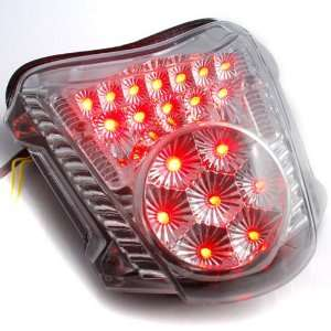 Transparent Clear Lens Integrated LED Brake Tail Light Turn Signals