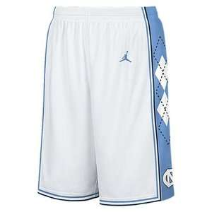 Nike Jordan North Carolina Tar Heels Mens White Basketball Shorts UK M