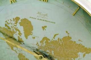 VTG ART DECO KIENZLE AUTOMATIC PAN AMERICAN SHELF DESK WORLD TIME