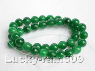 10mm round emerald green jade beads gemstone strand