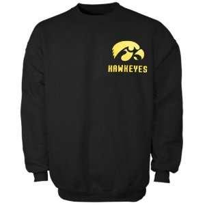 Iowa Hawkeyes Black Keen Fleece Crew Sweatshirt (Small)