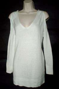 VICTORIAS SECRET COTTON AND CASHMERE OPEN SHOULDER SWEATER $60
