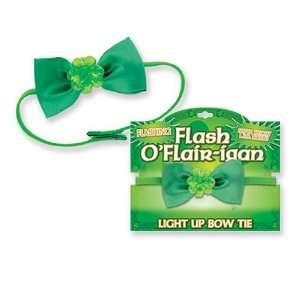St Patricks Day  Irish  Flashing Shamrock Bow Tie