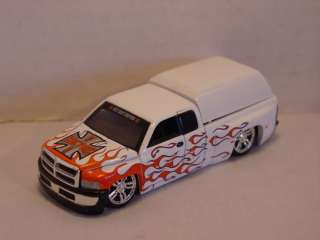 Dodge Ram Truck w/cover   White w/ Flames