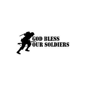 God Bless Our Soldiers Custom Cut Vinyl Decal