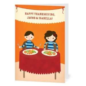 Happy Thanksgiving Greeting Cards   Kids Table By Rosy