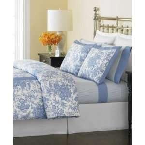 Martha Stewart Ticking Stripe Blue Queen Sheet Set