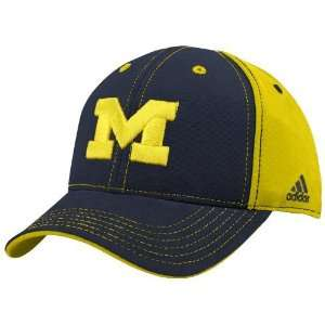 adidas Michigan Wolverines Youth Navy Blue Maize