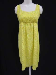 LIZ LANGE Maternity Yellow Floral Sleeveless Tank Mini Dress Sz 1