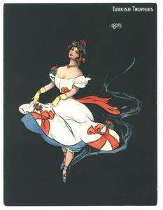 Turkish Trophies large cigarette card   girl of 1829