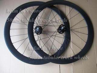 50mm tubular fixed gear carbon wheels / carbon track wheelset