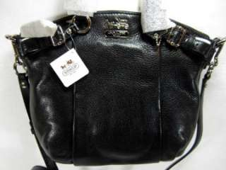 NWT COACH MADISON Black Leather MINI SOPHIA SATCHEL TOTE BAG PURSE