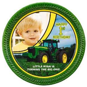 John Deere 1st Birthday Personalized Dinner Plates (8) Toys & Games