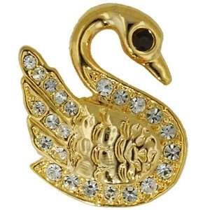 Gold Plated Swan Animal Brooch Pin Pugster Jewelry