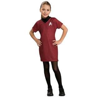 Rubies Costume Company Deluxe Girls Star Trek Red Dress Costume   Star