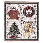 Simply Home Christmas Decorations Holiday Tapestry Throw Blanket 50 x