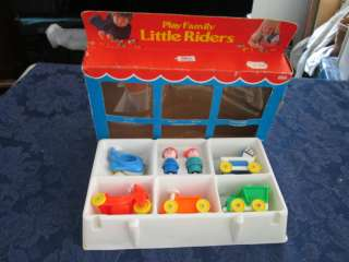 VTG Fisher Price Little People Baby Riders 656 Box Set