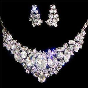 Holy Chic Bridal Necklace Earring Set Austrian Rhinestone Crystal