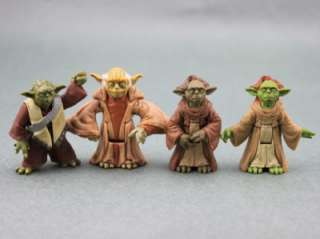 FREE SHIP LOT 4 PCS CLONE STAR WARS YODA JEDI MASTER 1999 2001 2003