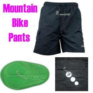 Men Mountain Bike Bicycle Cycling pants Shorts Pad New
