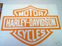 Harley Davidson Motorcycles Decal Orange Jumbo Die Cut