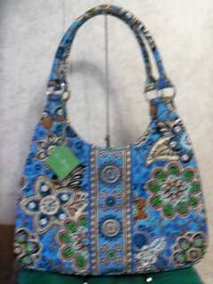 Vera Bradley Bali Blue Large Hobo Bag